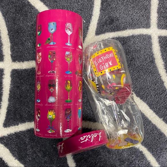 NWT Lolita Birthday Girl Wine Glass